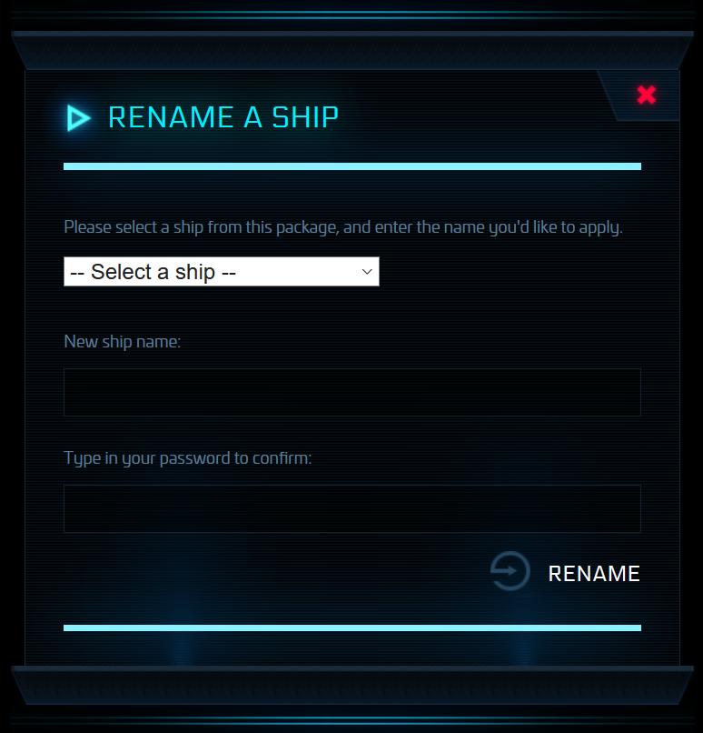 Renommage vaisseau 2