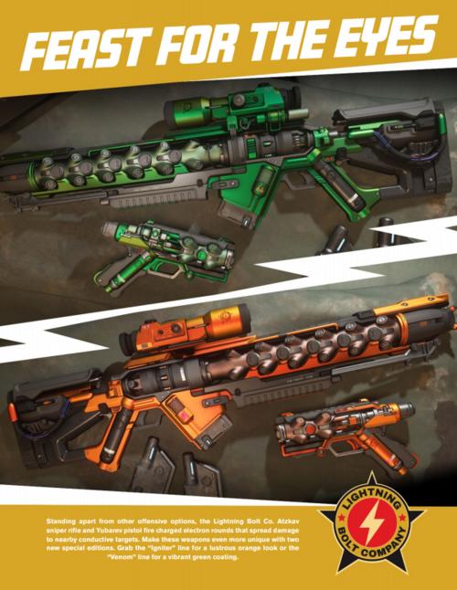 The Lightning Bolt Co. Weapons Packs