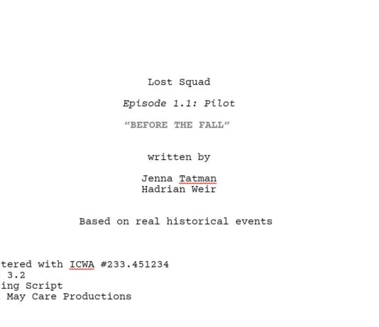 """Lost Squad: """"Before the Fall"""""""