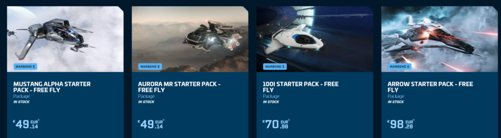 Starter Packs de Star Citizen